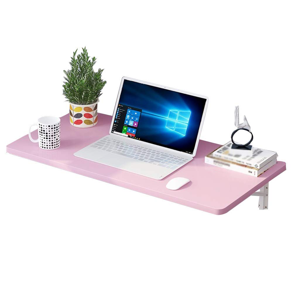 PENGFEI 折り畳みテーブルウォールマウント多機能本棚 机 スプレーペイント、 木質パネル 3色、 9サイズ (色 : Pink, サイズ さいず : 70x40cm) 70x40cm Pink B07P193Z58