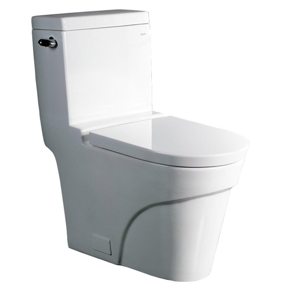 Ariel Platinum ''Oceanus'' Contemporary One Piece White Toilet 29x15x31 European Bathroom, Restroom Bowl