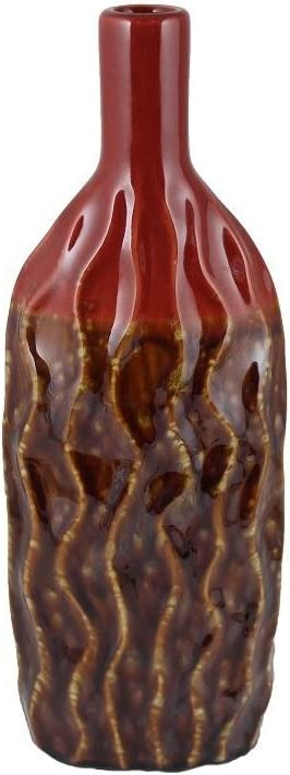 "Essential Decor Entrada Collection 7""x18"" Ceramic Vase"