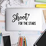 Littledollz Shoot for The Stars Laptop Decal Laptop Stickers Laptop Sticker Travel Decals Wanderlust Stickers 21 Inch Tall