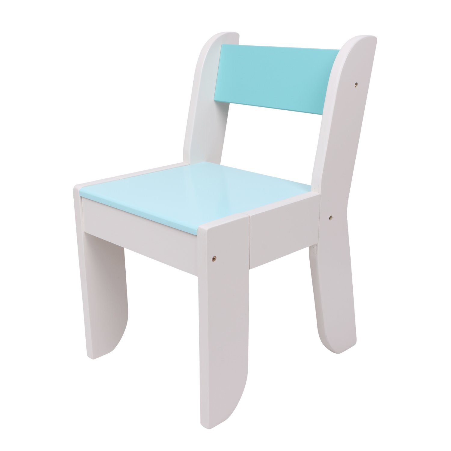 labebe Chair for Kids- Dark Blue Color for 1 to 5 Years Old Kids, Pair with Green Hedgehog, Solid Wood, Use for Painting/Reading/Group Play in Classroom & Home, Creative Birthday Gift