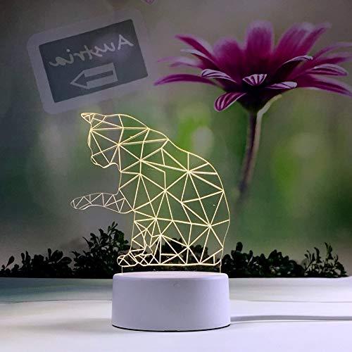 694c809dc8 Ragazza Creativa Cuore Notte Luce Ins Dormitorio Lampada Da Tavolo Plug-In  Carino Sogno Decorativo Led Lampada Da Comodino Gatto Impertinente:  Amazon.it: ...