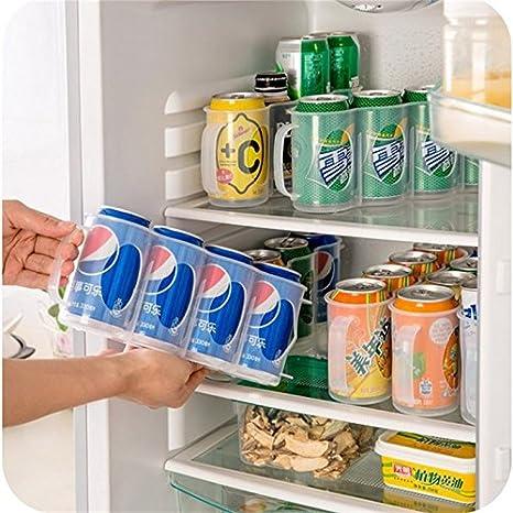 1xKitchen Beer Soda Can Storage Holder Fridge Space Saver Organization Rack
