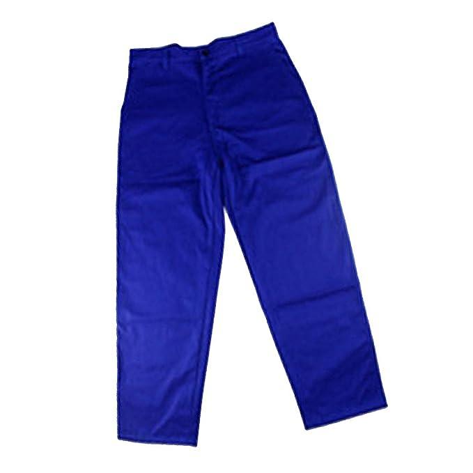 FLAMEER Pantalones Ropa Soldadura Retardante Llama Soldador Azul Equipo de Instalación Electrónica: Amazon.es: Ropa y accesorios