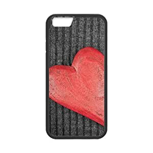 iPhone 6 4.7 Inch Cell Phone Case Black Heart on Wood K7I9N