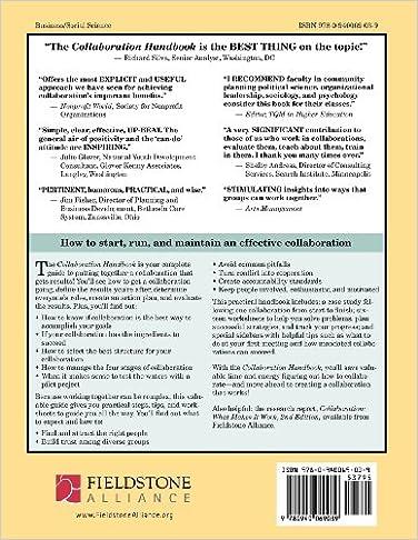 Collaboration Handbook: Creating, Sustaining, and Enjoying the ...