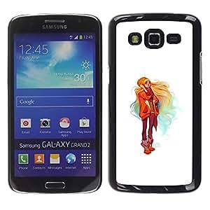 EJOY---Cubierta de la caja de protección la piel dura para el / Samsung Galaxy Grand 2 / --Chica rubia