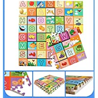 Ozoy Puzzle Double Sided Water Proof Baby Mat Kids Infant Crawling Play Mat Carpet Baby Baby Play & Crawl Mat(4 Feet X 6 Feet) Colors and Designs May Very (Assorted Colors and Design)