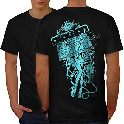 [Play On Music Beat Box Costume Men NEW S T-shirt Back | Wellcoda] (Pregnant Basketball Costume)