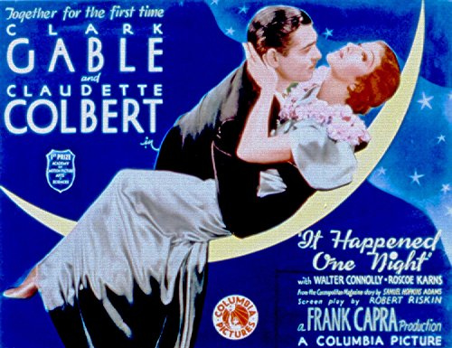 Odsan Gallery It Happened One Night, Clark Gable, Claudette Colbert, Walter Connolly, 1934 - Premium Movie Poster Reprint 32