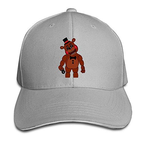[Z-Jane Five Nights Freddy Trucker Sandwich Hat Ash] (Diy Popcorn Costume)