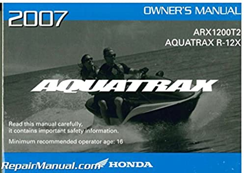 honda aquatrax r 12x manual free owners manual u2022 rh wordworksbysea com 05 Aquatrax Honda Aquatrax Maintenance