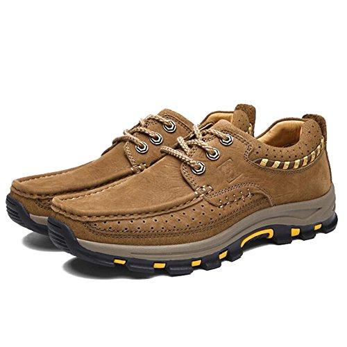 Herren Freizeitschuhe Dress Bergsteigen Herbst Outdoor Weiche Füße Sport Schuhe Rutschen Brown A