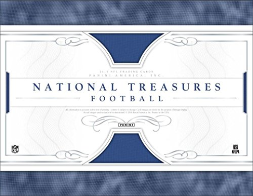 2016 Panini National Treasures Football 8 Card Hobby Box (Factory Sealed)