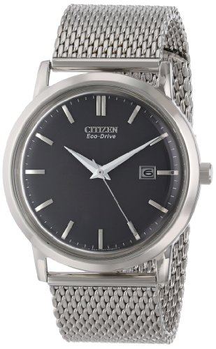 Citizen-Eco-Drive-Mens-BM7190-56H-Silver-Tone-Watch-with-Mesh-Bracelet