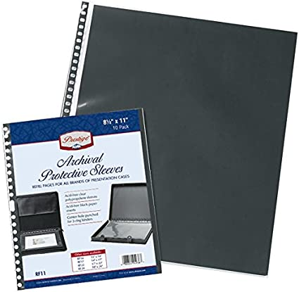 Acid-Free Archival Protective Sleeves Alvin RF11DS 11 x 17 Pack of 10
