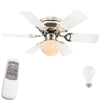Lámpara de techo ventilador del radiador ventilador ajustado con control remoto y lámparas LED: Amazon.es: Electrónica