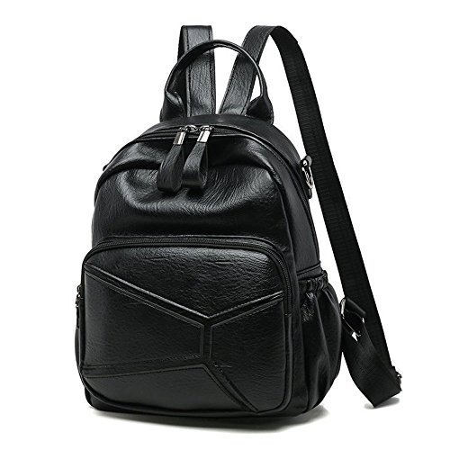 Color Casual Shoulder Meaeo Pure Ladies Brown Tissue The Backpack Lady Backpack Shoulder Black f0fwZ