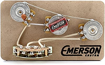 Emerson Custom 5-way Blender Prewired Kit for Fender Stratocasters - 250Kohm Pots from Emerson Custom