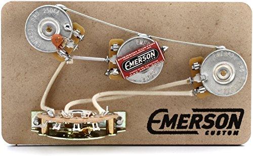Emerson Custom 5-way Blender Prewired Kit for Fender Stratocasters - 250Kohm Pots