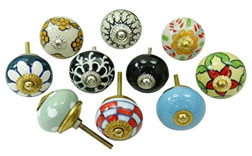 Vintage cerámica cajones perillas del gabinete Hardware perillas decorativas