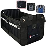 Higher Gear Car Trunk Organizer for Car, SUV, Auto, Truck, Home - Car Storage Organizer with 2 Interior Compartments, 3 Exterior Pockets, Rigid Folding Bottom, No Slip Feet, Collapsible