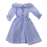 MonkeyJack NEW 1/4 BJD Clothes Country Style Blue Plaid Dress for BJD Dollfie SOOM Doll