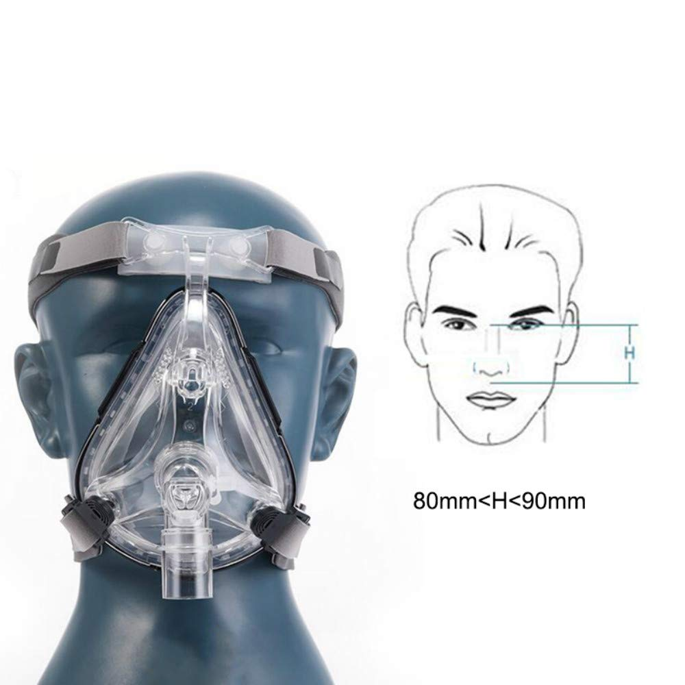 Full Face Large Size Mask with Headgear for Men and Women