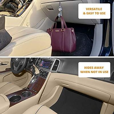 2 PCS Car Purse Hook, Car Hooks to Hang Grocery Bags, Purse Hanger Car Accessories for Women, Car Interior Accessories for Men, Cool Car Gadgets, Headrest Hooks for Car, Girls Purse Hook for Car: Home Improvement