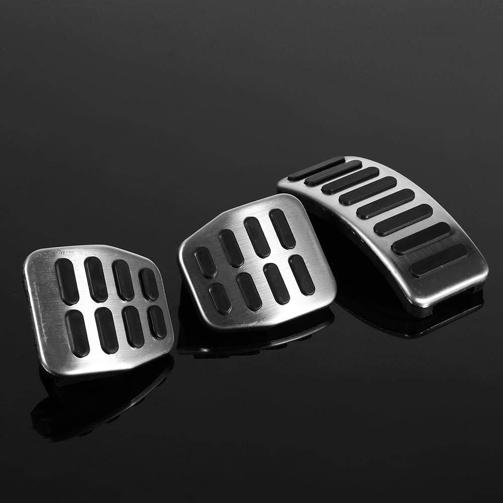 P/édale d/'embrayage 3 PCs de kit de p/édale manuelle en acier inoxydable pour VW Skoda Fabia.