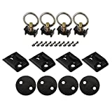 US Cargo Control 2'' Track Anchor Point Tie Down Kit- Black