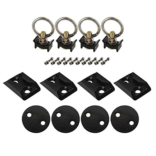 "US Cargo Control 2"" Track Anchor Point Tie Down Kit- Black from US Cargo Control"