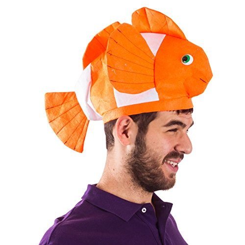 Animal Head Hats (Fish Hat - Clown Fish Hat - Ocean Animal Hats - Sea Animal Hats - Costume Hats by Funny Party Hats)
