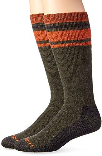 Carhartt Mens Heavy Duty Thermal Crew 2-Pair Socks