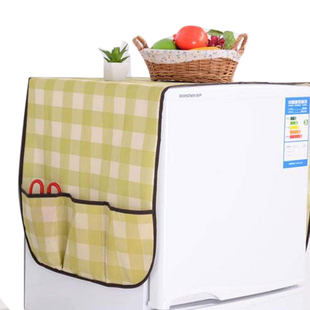 Oguine Anti-dust Refrigerator Covers with Storage Bag Organizer Decor Kitchen Supplies Space Saver Bags