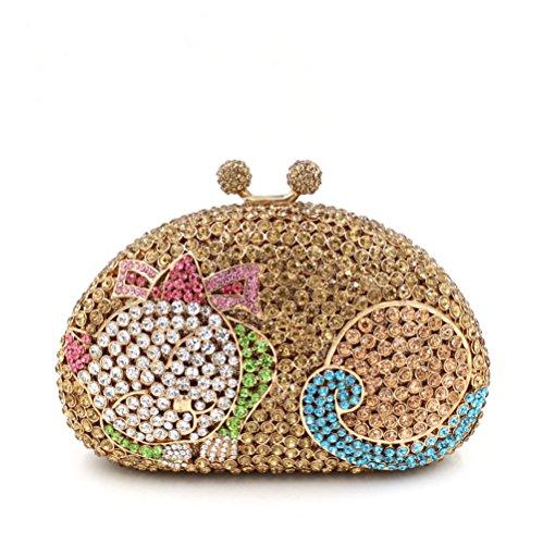 à F Petit sac Mesdames sac de fête d'embrayage sac de luxe soirée main Favorite de Chat strass à mariage main HwrHIq81