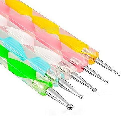 Goliton Nail Art Design Pintura Pening Detailing Pen de Bobeau Nail Art Manicura y pedicura decorar uñas decoración (5PCS)