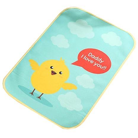 Almohadilla para cambiar pañales impermeable para bebés de verano Estera para dormir,Polluelo