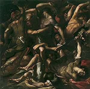The High Quality Polyster Canvas Of Oil Painting 'Procaccini Giulio Cesare Sanson Y Los Filisteos Ca. 1625 ' ,size: 24 X 24 Inch / 61 X 62 Cm ,this Imitations Art DecorativePrints On Canvas Is Fit For Wall Art Artwork And Home Decoration And Gifts