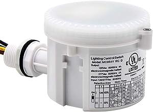 CINOTON 360 Degree Microwave Motion Sensor 3 IP65 Rating Waterproof Motion Sensor Light Switch