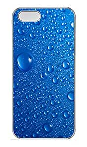 iPhone 5 5S Case Blue Water Drops PC Custom iPhone 5 5S Case Cover Transparent