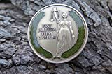DKC-4001-B Lawyer Judge Medal Legal Gift Sebano Coin FIAT JUSTITIA RUAT CAELUM Custom Hand Engraved Minted In Antique Brass 1.75