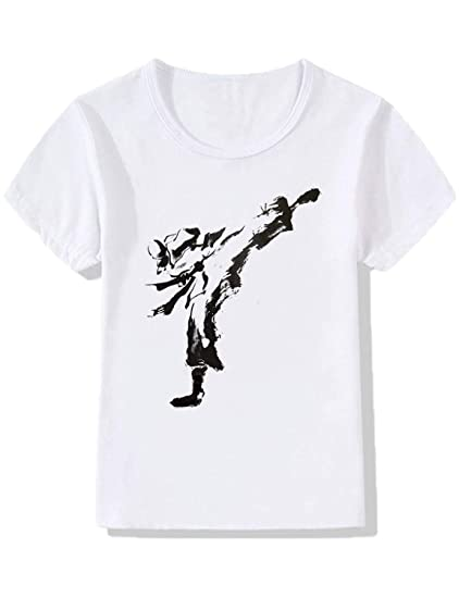 Amazon Com Yzhen Boysgirls Karate Judo Taekwondo T Shirt Clothing