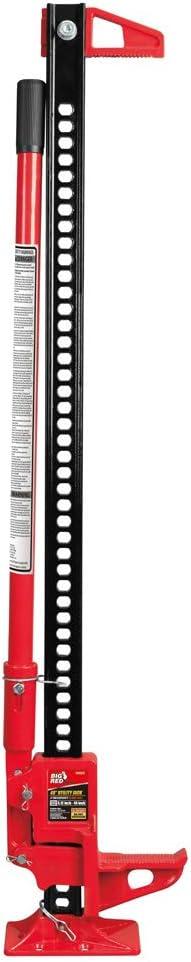 "Torin Big Red 48"" Ratcheting Off Road / Utility Farm Jack, 3 Ton Capacity"