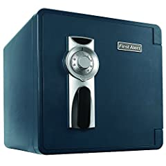 Safeguard your valuables against theft, water, and fire with the First Alert 2092F Waterproof and Fire-Resistant Combination Safe. Featuring a capacity of 1.3 cubic feet, this waterproof safe comes equipped with a four-number combination dial...