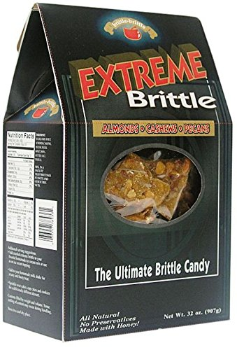Brittle Brittle Extreme Brittle - Brittle with Almonds, Cashews and Pecans - 32 oz by Brittle