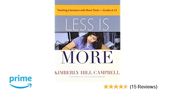 less is more teaching literature with short texts