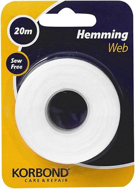 2 X large 8 m Wonder Web Iron on Hemming Ruban à mesurer rouleau 8 m x 2 cm large