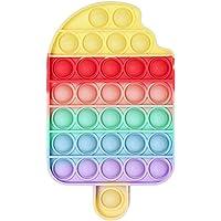 Push Pop Bubble Fidget Brinquedo Sensorial Sorvete Alívio do Stress Silicone Push Pop Fidget Toy Brinquedos de…