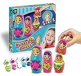 AMAV Toys Russian Nesting Dolls Babushka Painting Craft Kit Multi Color